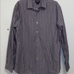 Claiborne Slim Fit Button Down Striped Dress Shirt